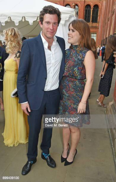 Jack Brooksbank and Princess Eugenie of York attend the 2017 annual VA Summer Party in partnership with Harrods at the Victoria and Albert Museum on...