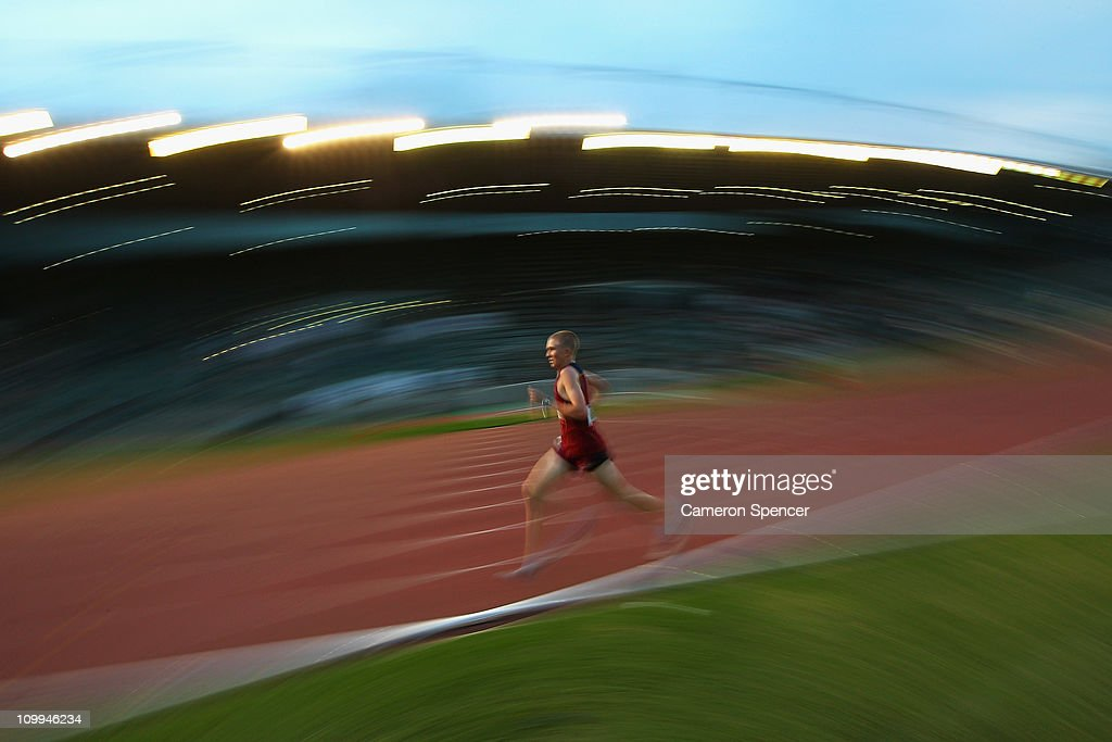 Jack Bruce Of Queensland Competes In The Mens U18 3000m During Day Two Australian