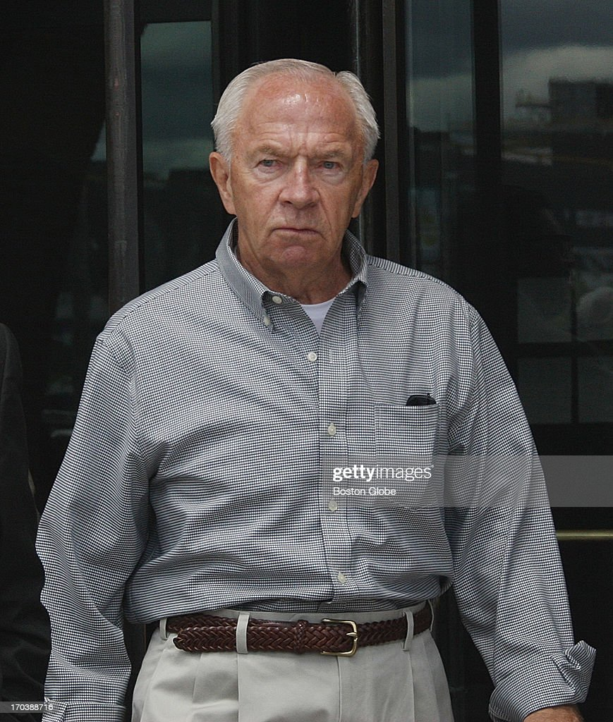 Jack Bulger brother of accused mobster James 'Whitey' Bulger leaving the courthouse James 'Whitey' Bulger's trial begins at the John Joseph Moakley...