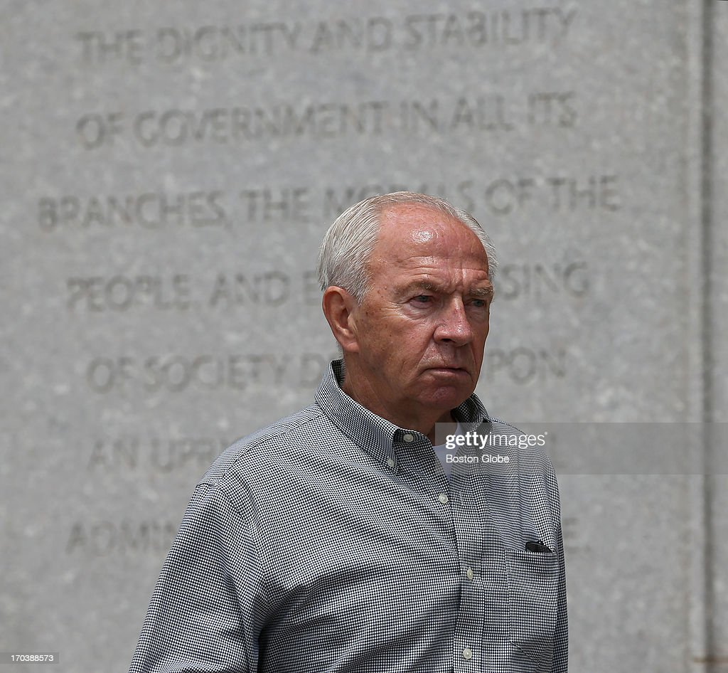 Jack Bulger brother of James 'Whitey' Bulger leaves the courthouse James 'Whitey' Bulger's trial begins at the John Joseph Moakley United States...
