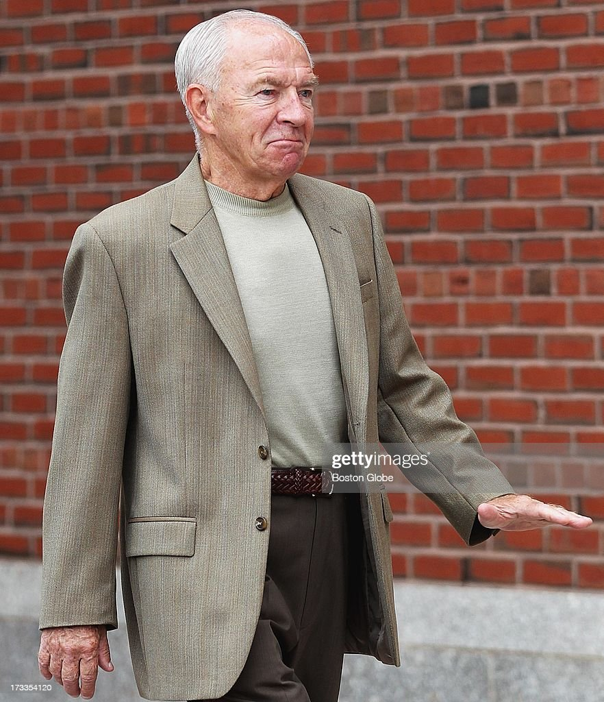Jack Bulger brother of Whitey Bulger arrived at the courthouse The trial of James 'Whitey' Bulger continues at the John Joseph Moakley United States...
