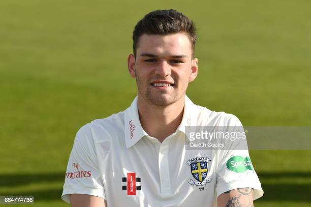 Jack Burnham of Durham poses for a portrait during their press day at The Riverside on April 5 2017 in ChesterleStreet England