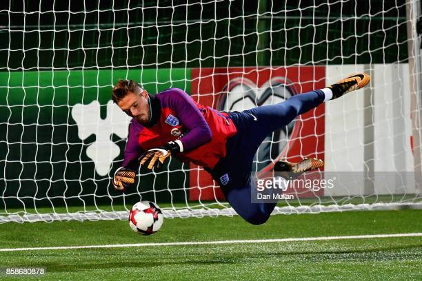 Jack Butland during an England Training Session at The LFF Stadium in Vilnius at a Media Access day on October 7 2017 in Vilnius