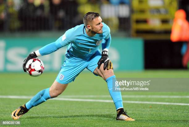 Jack Butland during the FIFA 2018 World Cup Qualifier between Lithuania and England on October 8 2017 in Vilnius Lithuania
