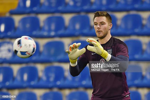 Jack Butland looks on during the England training session on November 12 2015 in Alicante