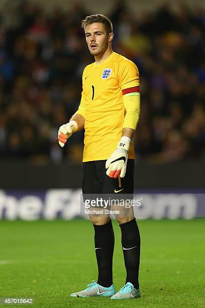 Jack Butland of England during the UEFA U21 Championship Playoff First Leg match between England and Croatia at Molineux on October 10 2014 in...