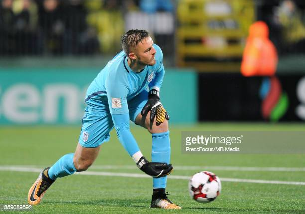 Jack Butland of England in action during the FIFA 2018 World Cup qualifier between Lithuania and England on October 8 2017 in Vilnius Lithuania