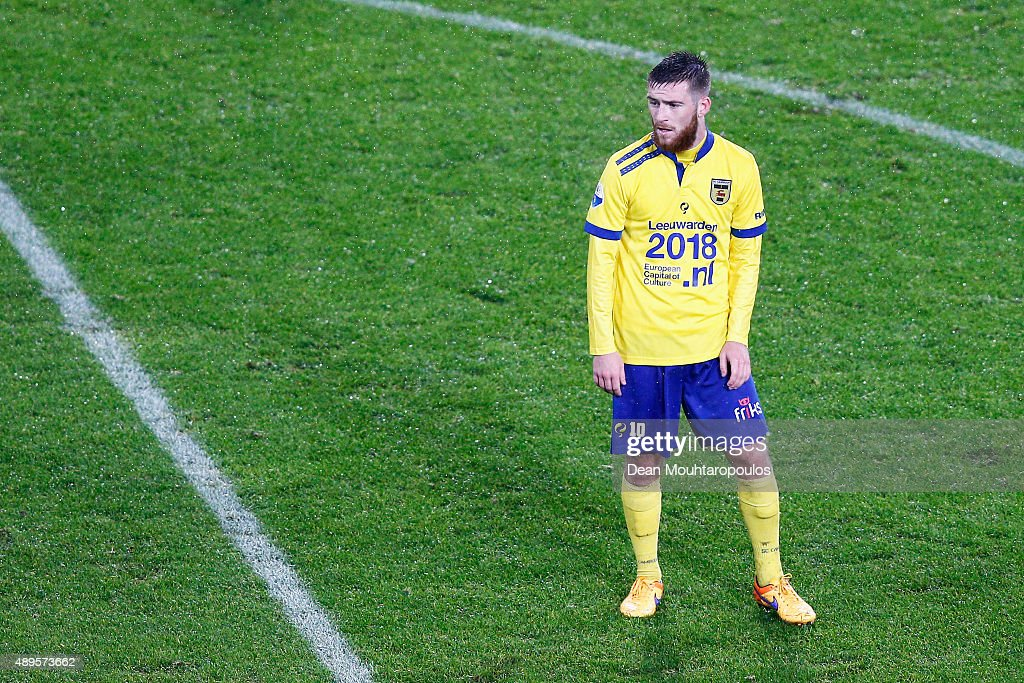 Jack Byrne of Cambuur looks on during the KNVB Cup 2nd round match between PSV Eindhoven and SC Cambuur on September 22 2015 in Eindhoven Netherlands