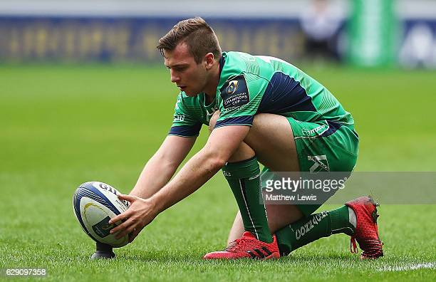 Jack Carty of Connacht in action during the European Rugby Champions Cup match between Wasps and Connacht Rugby at the Ricoh Arena on December 11...