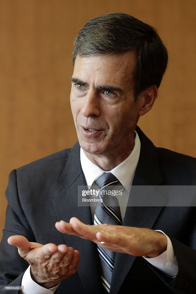 Jack Clark, chief technical officer of Novelis Inc., gestures as he speaks during an interview in Seoul, South Korea, on Wednesday, May 8, 2013. Novelis Inc. plans to boost research and development staff by 40 percent as the biggest supplier of flat-rolled aluminum products to global carmakers seeks to increase recycled content in products used in cans and vehicles. Photographer: Woohae Cho/Bloomberg via Getty Images