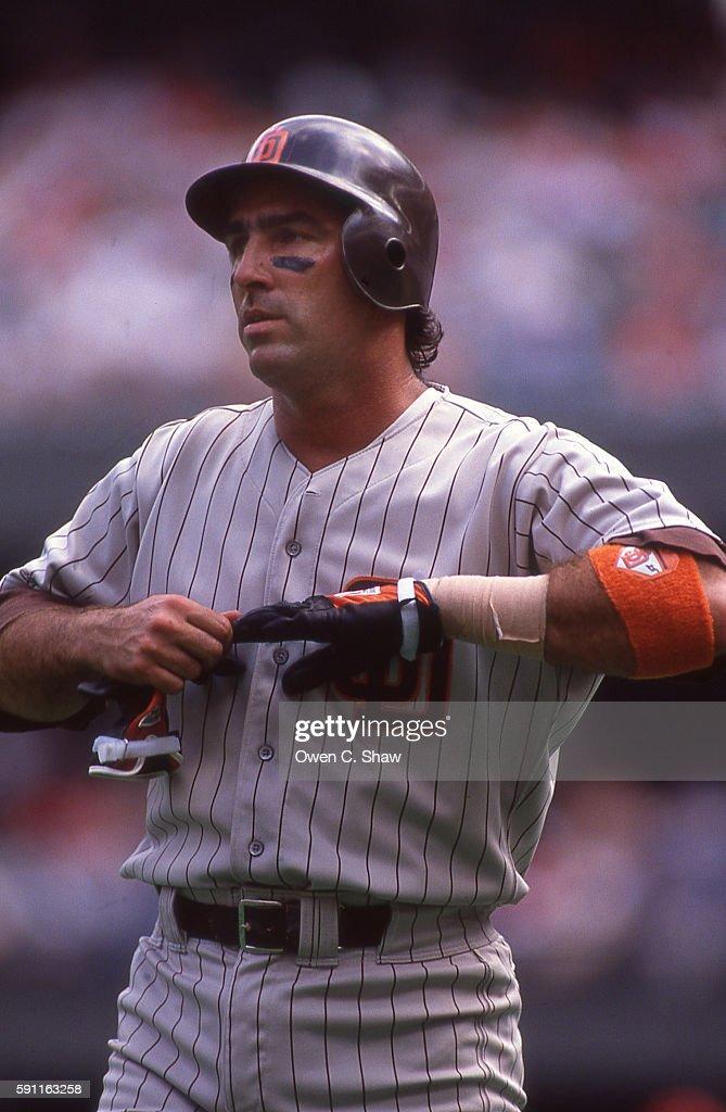 Jack CLark of the San Diego Padres circa 1989 at Jack Murphy Stadium in San Diego California
