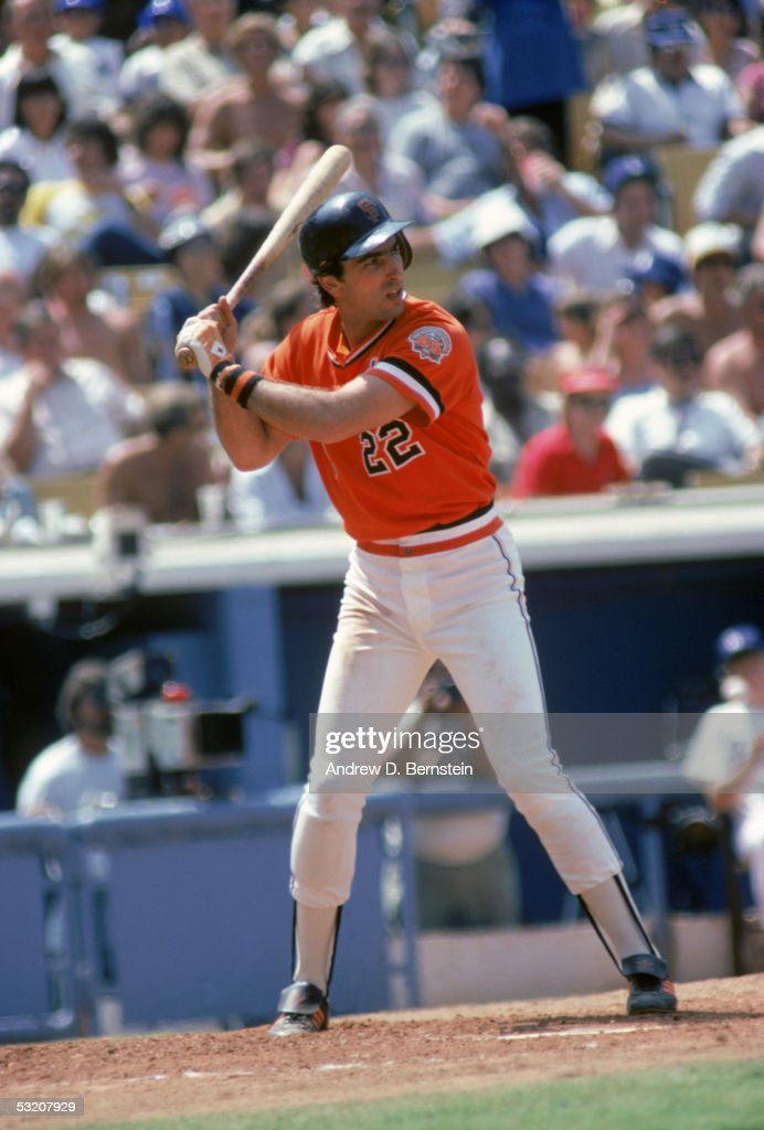 Jack Clark of the San Francisco Giants stands ready at bat during a season game Jack Clark played for the San Francisco Giants from 19791984