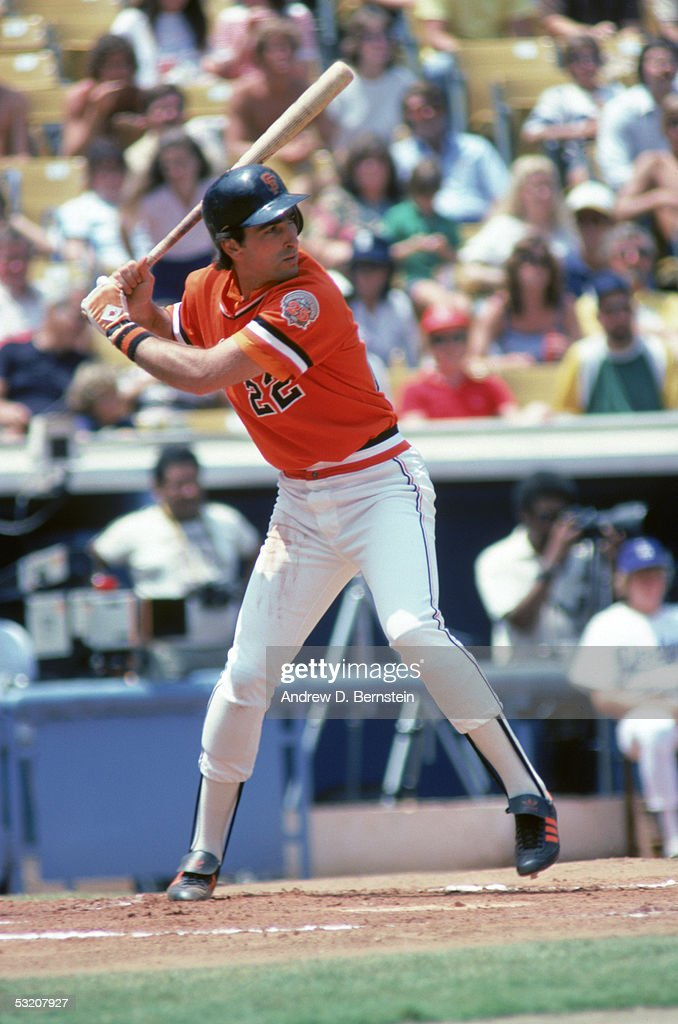 Jack Clark of the San Francisco Giants steps into the swing during a season game Jack Clark played for the San Francisco Giants from 19791984