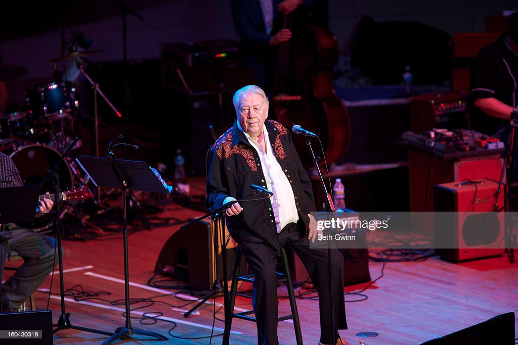 Jack Clement performs during the Tribute to Cowboy Jack Clement at War Memorial Auditorium on January 30, 2013 in Nashville, Tennessee.