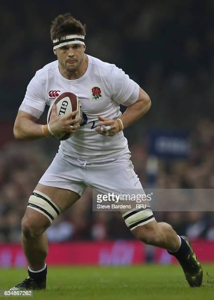 Jack Clifford of England in action during the RBS Six Nations match between Wales and England at the Principality Stadium on February 11 2017 in...