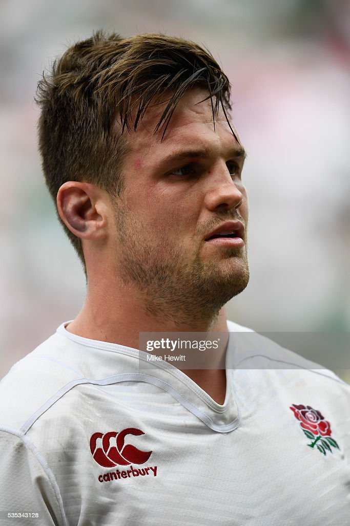 <a gi-track='captionPersonalityLinkClicked' href=/galleries/search?phrase=Jack+Clifford+-+Rugby+Union+Player&family=editorial&specificpeople=15452215 ng-click='$event.stopPropagation()'>Jack Clifford</a> of England looks on during the Old Mutual Wealth Cup between England and Wales at Twickenham Stadium on May 29, 2016 in London, England.