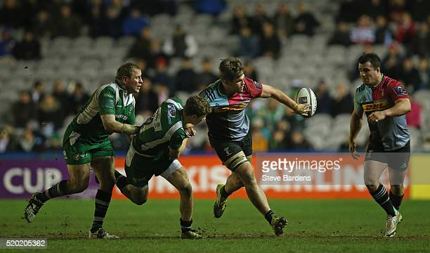 Jack Clifford of Harlequins in action during the European Rugby Challenge Cup quarter final match between Harlequins and London Irish at Twickenham...