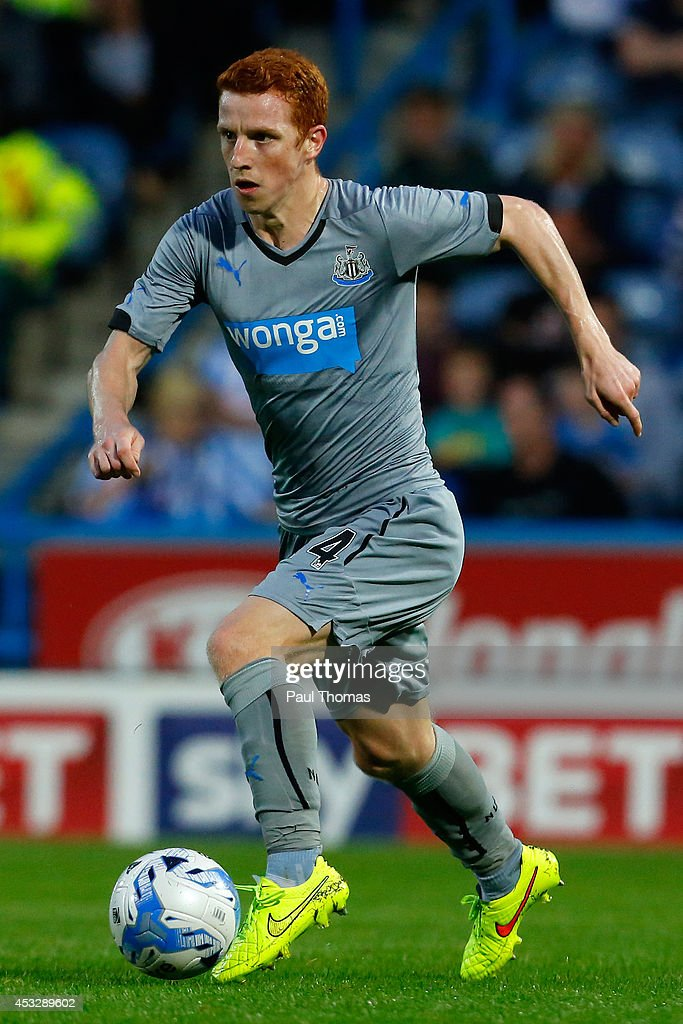 Jack Colback of Newcastle in action during the Pre Season Friendly match between Huddersfield Town and Newcastle United at the John Smith's Stadium on August 5, 2014 in Huddersfield, England.