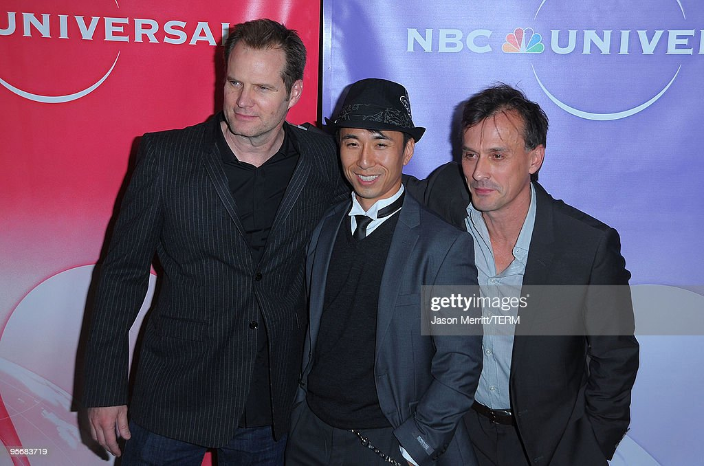 Jack Coleman James Kyson Lee and Robert Knepper arrive at NBC Universal's Press Tour Cocktail Party at Langham Hotel on January 10 2010 in Pasadena...