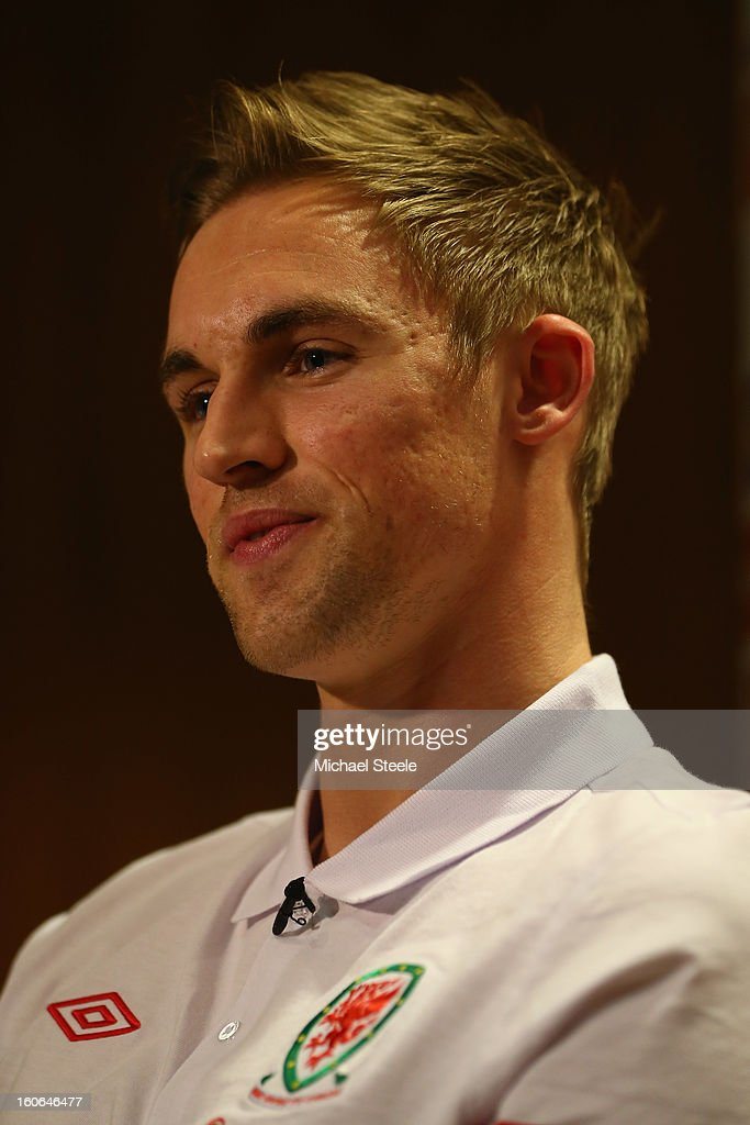Jack Collison during the Wales press conference at St David's Hotel on February 4, 2013 in Cardiff, Wales.