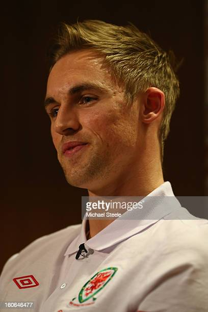 Jack Collison during the Wales press conference at St David's Hotel on February 4 2013 in Cardiff Wales