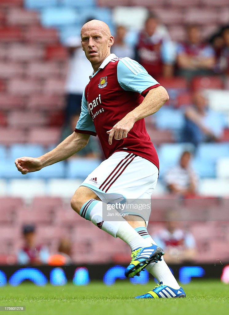 Jack Collison of West Ham looks on during the Pre Season Friendly match between West Ham United and Pacos de Ferreira at the Boleyn Ground on August...