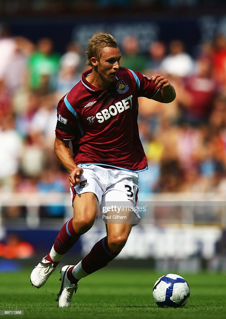 Jack Collison of West Ham United in action during the Bobby Moore Cup between West Ham United and Napoli at Upton Park on August 8 2009 in London...