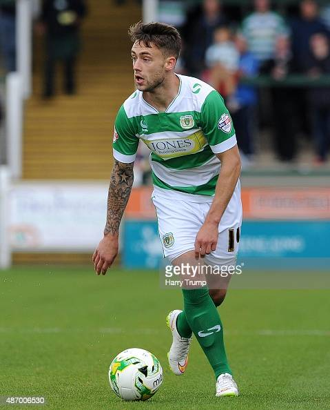 Jack Compton of Yeovil Town during the Sky Bet League Two match between Yeovil Town and Morecambe at Huish Park on September 5 2015 in Yeovil England