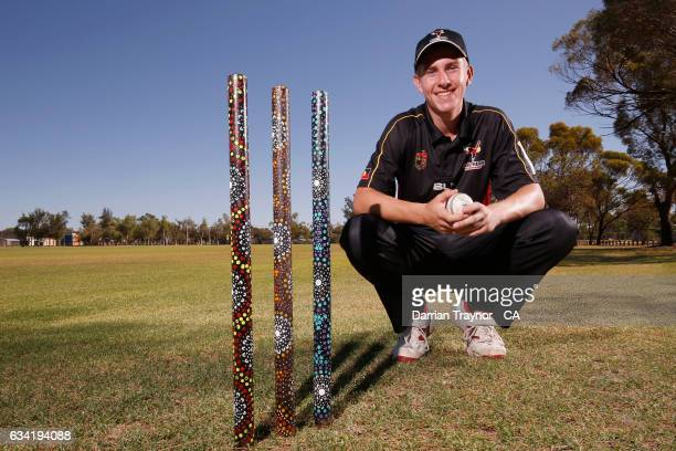 Jack Coppins of South Australia poses for a photo on February 8 2017 in Alice Springs Australia