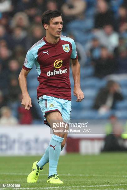 Jack Cork of Burnley during the Premier League match between Burnley and Crystal Palace at Turf Moor on September 10 2017 in Burnley England