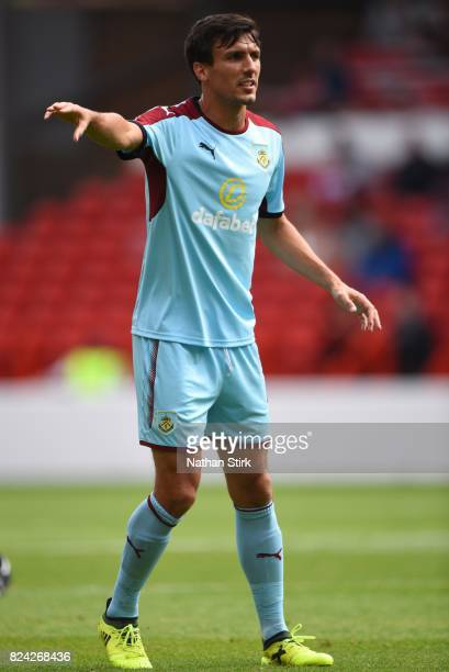 Jack Cork of Burnley in action during the pre season friendly match between Nottingham Forest and Burnley at the City Ground on July 29 2017 in...
