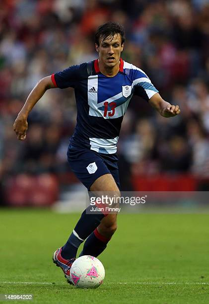 Jack Cork of GB in action during the international friendly match between Team GB and Brazil at Riverside Stadium on July 20 2012 in Middlesbrough...