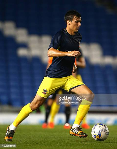 Jack Cork of Southampton during the Pre Season Friendly match between Brighton Hove Albion and Southampton at The Amex Stadium on July 31 2014 in...