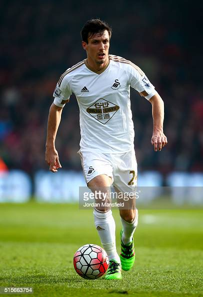 Jack Cork of Swansea City in action during the Barclays Premier League match between AFC Bournemouth and Swansea City at Vitality Stadium on March 12...