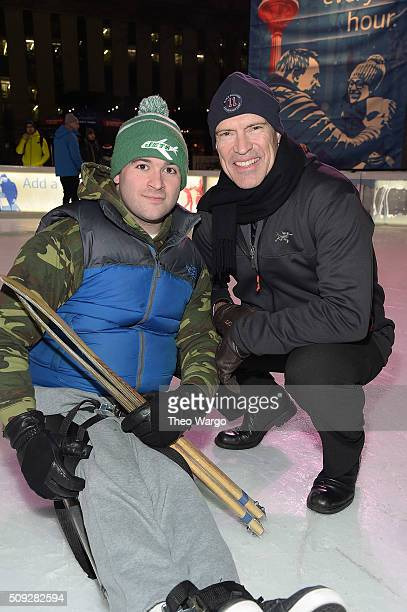 Jack Cubero and Mark Messier attend 2016 Breakaway Fundraiser to benefit NY Rangers Sled Hockey at Bryant Park on February 9 2016 in New York City