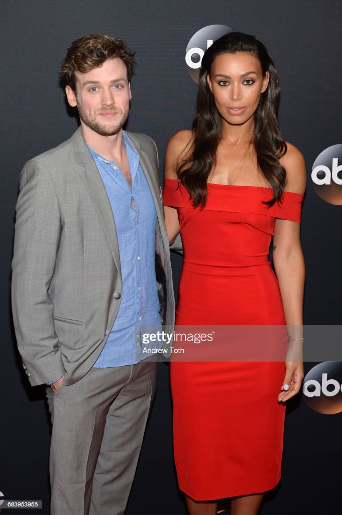 Jack Cutmore-Scott and Ilfenesh Hadera attend the 2017 ABC Upfront on May 16, 2017 in New York City.