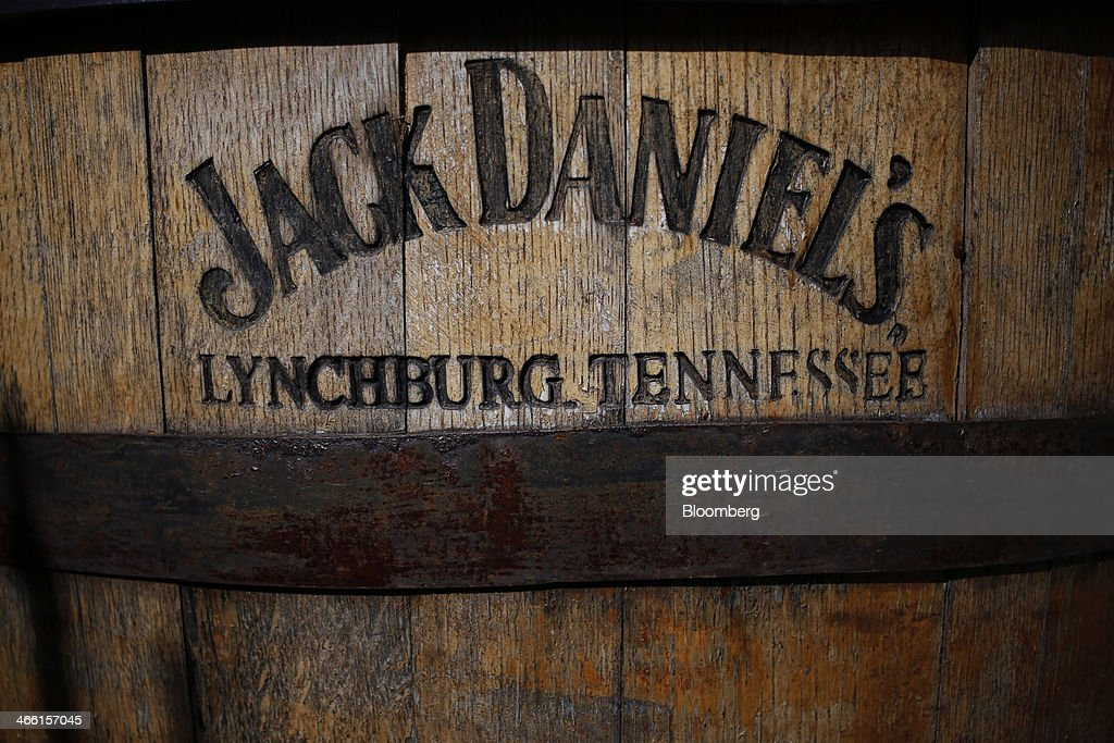 A Jack Daniel's Tennessee Whiskey barrel sits in front of the visitor center at Jack Daniel's Distillery in Lynchburg, Tennessee, U.S., on Thursday, Jan. 30, 2014. Jack Daniel's is owned by Brown-Forman Corp., which announced a regular quarterly cash dividend of 29 cents per share on its Class A and Class B Common stock last week in a company press release. Photographer: Luke Sharrett/Bloomberg via Getty Images