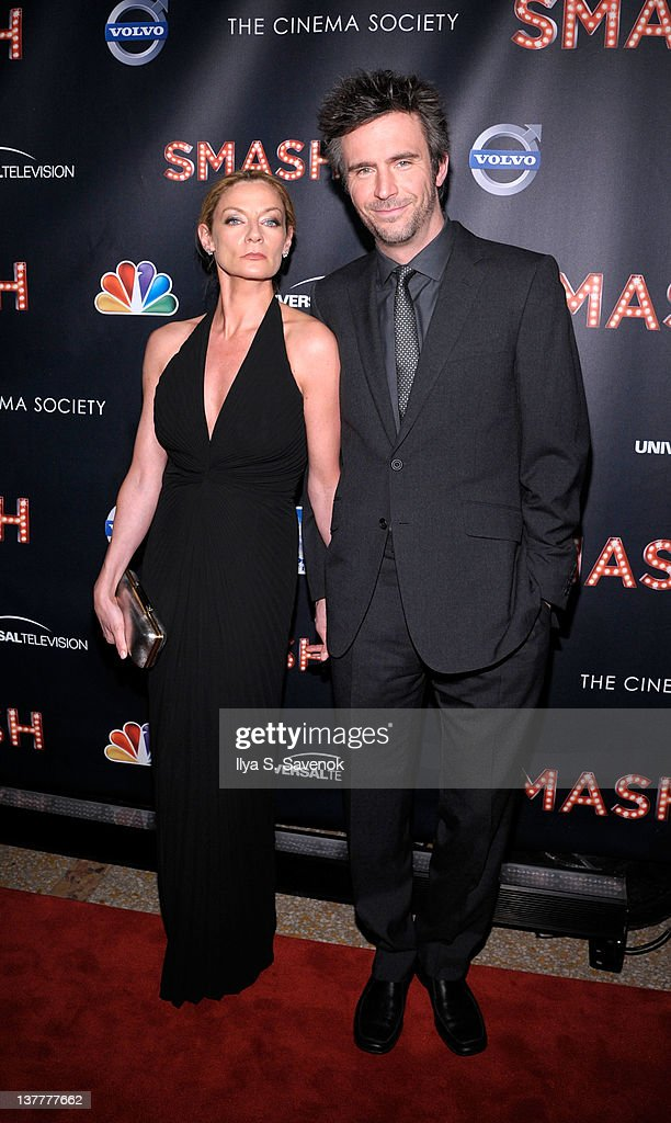 Jack Davenport and his wife attend the NBC Entertainment Cinema Society with Volvo premiere of 'Smash' at the Metropolitan Museum of Art on January...