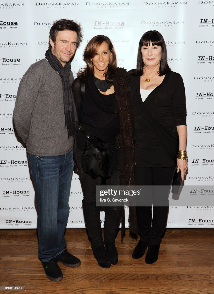 Jack Davenport Donna Karan and Anjelica Huston attend 'Haven't We Met Before' New York Premiere at 711 Greenwich Street on February 3 2013 in New...