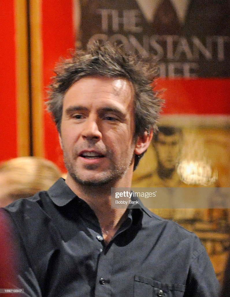 Jack Davenport filming on location for 'Smash' on January 9, 2013 in New York City.