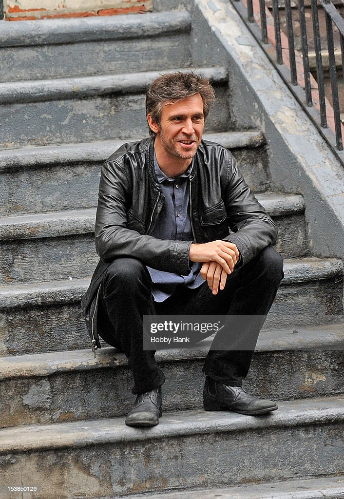 Jack Davenport filming on location for 'Smash' on October 9, 2012 in New York City.