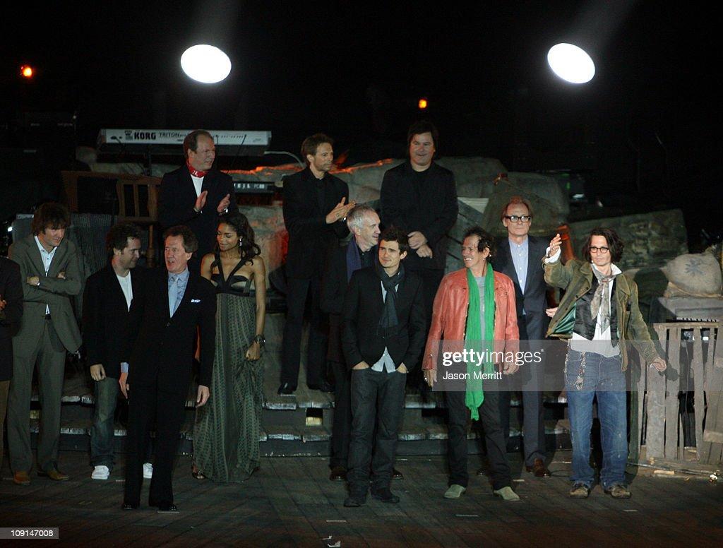 Jack Davenport Geoffrey Rush Naomie Harris composer Hans Zimmer producer Jerry Bruckheimer Jonathan Pryce director Gore Verbinski Orlando Bloom Keith...