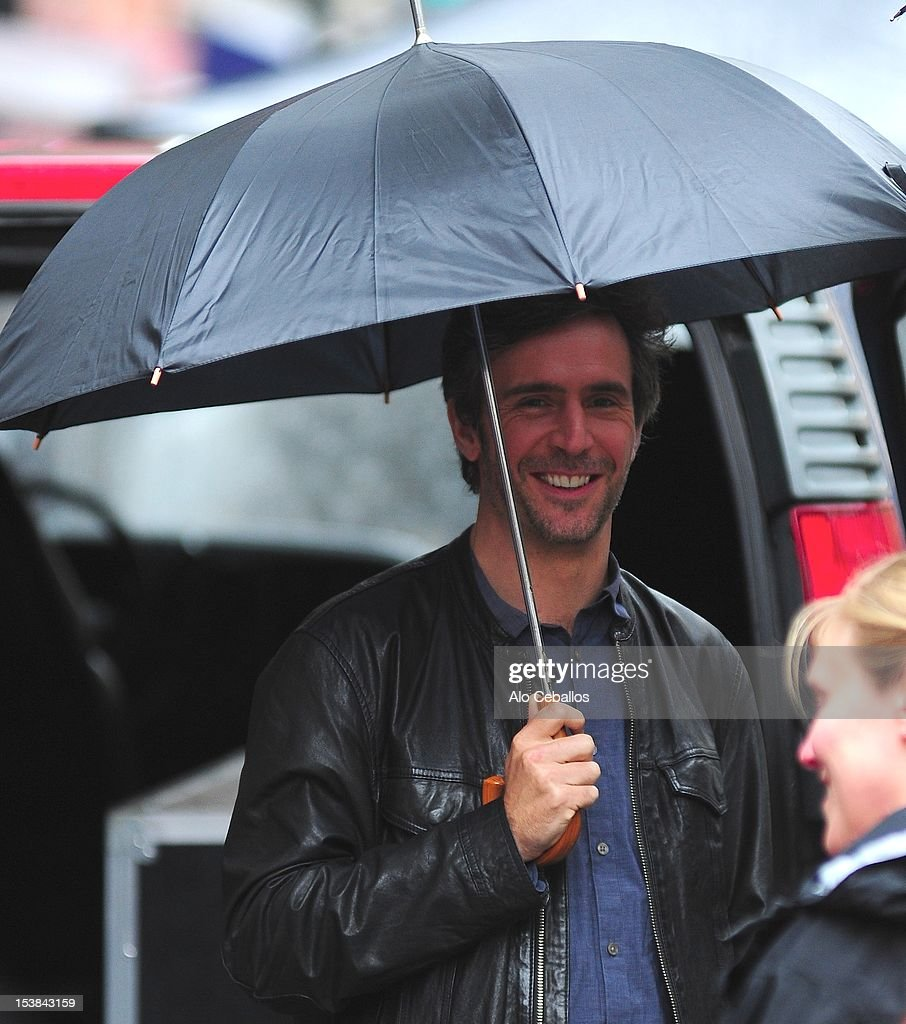 Jack Davenport is seen on the set of 'Smash' on October 9, 2012 in New York City.