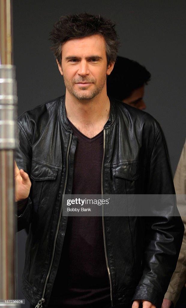 Jack Davenport on location for tv series 'Smash' on November 30, 2012 in New York City.
