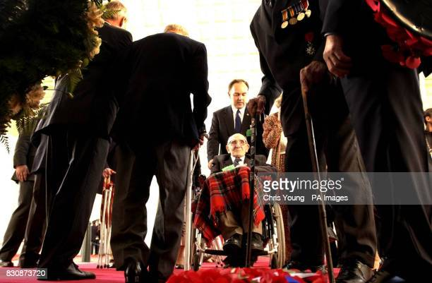 Jack Davis a 107 year old veteran of the First World War prepares to lay a wreath in memory of fallen comrades at the Menin Gate Ypres Belgium *Jack...