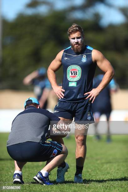 Jack de Belin during a New South Wales Blues State of Origin Training Session on July 8 2017 in Kingscliff Australia