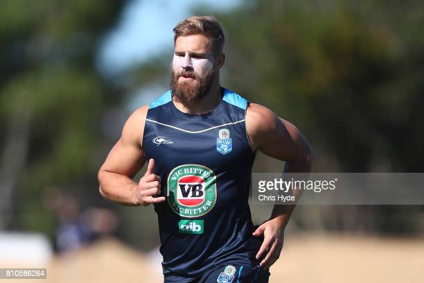 Jack de Belin runs during a New South Wales Blues State of Origin Training Session on July 8 2017 in Kingscliff Australia