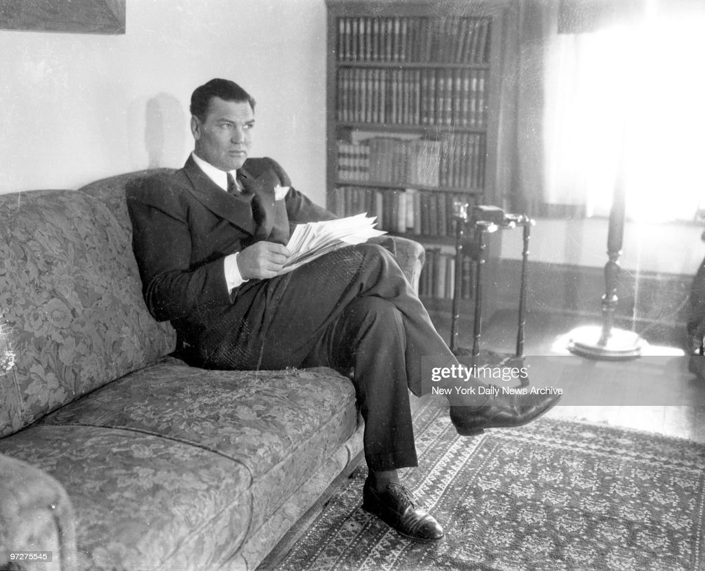 Jack Dempsey at his Reno Nev home