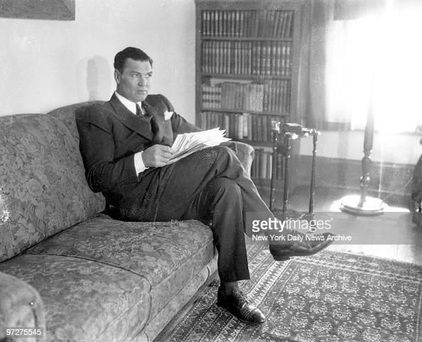 Jack Dempsey at his Reno Nev home
