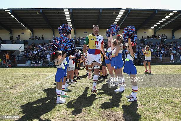 Jack Dempsey of the Rays runs out during the NRC Semi Final match between the Sydney Rays and Perth Spirit at Pittwater Park on October 16 2016 in...